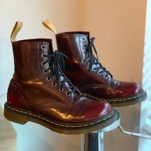 Dr. Martens Vegan 1460 Cherry Red Boots
